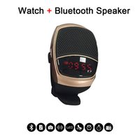 Wholesale Music Timer Iphone - B90 Smart Watch Sports Music Player Wireless Bluetooth Speaker Hands-free Call TF Card Playing FM Radio Self-timer Time Display