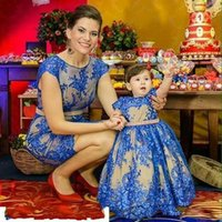 Wholesale Dresses For Mother Kids - You May like Mother Daughter Dress For Bithday Dress Family Matching Outfits Princess Kids and Mother Dresses Wear Prom Parenting Dress