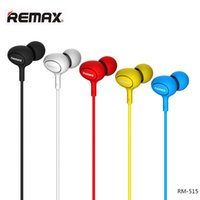 Wholesale Bass Plug - Best In-Ear Earphones REMAX RM-515 High Quality Music Gaming Stereo Headset Hifi Bass With Mic In-Line Control 3.5MM Plug Jack Universal