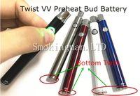 Wholesale Evod Bottom - Twist Manual Evod preheat CO2 oil battery 350mah rechargeable variable voltage pen bottom twist preheating function Cartridge 510 thread NEW