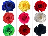 Wholesale Wholesale Dried Roses - 8pcs 4-5cm Preserved Flower Rose Bud Head For Wedding Party Holiday Birthday Velentine's Day Gift Favor