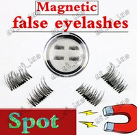 Wholesale Hot Glue Strips - 50PCS HOT magnet false eyelash suction stone mascara magnetic magnetic buckle without glue three-dimensional multi-layer natural thick
