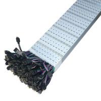 Wholesale Led Hard Strip Rgb - RGB SMD5050 LED Bar Light 60LEDs M 72LEDs M LED Hard Strip 12V DC LED Cabinet Strip Lights Aluminum Alloy Display