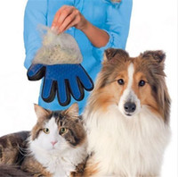 Wholesale Wholesale Grooming Tables - New Deshedding Pet Glove True Touch For Gentle And Efficient Grooming Removal Glove Bath Dog Cat Brush Comb DHL FEDEX
