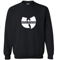 Wholesale wu tang sweatshirt - Free Shipping Hoodie sweatshirt product wu tang hip-hop LOGO fashion cotton round collar men leisure pullover