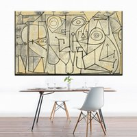 Wholesale Picasso Print Abstract - ZZ844 Artist Pablo Picasso Abstract Geometry Black White Lines, Canvas Art Print Painting Poster, canvas home wall decor art