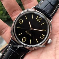 Wholesale Hot Selling Digital Wristwatch - HOT Selling !TOP Brand 47mm Black dial PAM00604 Mechanical Hand-winding P3000 Movement Men's Leather strap Watch pam604 Gents wristwatch