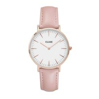 Wholesale Bell Clocks - Fashion female clock new brand hot sale bell Women leather quartz watch montre femme marque de luxe zegarek damski