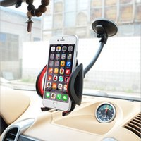 Wholesale Support Voiture - Wholesale-Universal Long Gooseneck Car Windshield Sucker Mobile Cell Phone Mount Holder in Car Support GPS Telephone Voiture