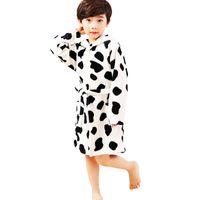 Wholesale 4t Nightgown - Baby Girls Boys Bathrobe Printed Flannel Nightgowns Children Bathrobe
