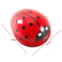 Wholesale Desktop Dust Cleaner - Mini Ladybug Desktop Coffee Table Vacuum Cleaner Dust Collector for Home Office