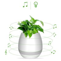 Musique Green Plant Smart Haut-parleur Bluetooth Music Flower Pots Décoration Home Office Green Plant Music Vase Touch Induction Creative DHL