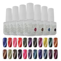 Wholesale Nail Polish 24 Colors - Any 3 Colors IDO Gelish UV LED Gel Nail Polish Cat Eye Magnetic Gel 24 Colors Available