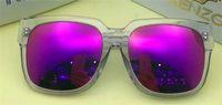 Wholesale Uv Protective Coatings - Classic retro simple polarized sunglasses square black frame coated reflective lens top quality uv 400 protective glasses KZ 3030