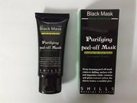 ingrosso purificare la buccia dalla maschera in profondità-2017 Black Aspirazione Maschera Anti-Aging 50ml SHILLS Deep Purifying Purifying Peel Off Black Face Mask Rimuovi Blackhead Peel Masks