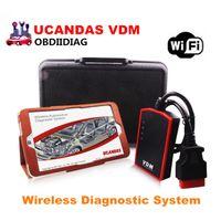 Wholesale Hyundai Tablets - Original VDM UCANDAS V3.9 WIFI Auto Diagnostic Scanner with WIN10 Tablet Wireless Automotive Diagnostic System
