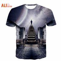 Wholesale Galaxy Tshirts - Wholesale- Alisister Men Women's Galaxy Space T-Shirt Print I Could See The Universe 3D T Shirt Casual Unisex Tshirts Harajuku Tee Shirt