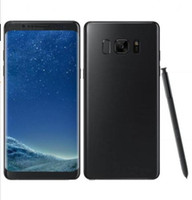 Wholesale Dutch Note - Goophone note8 Note 8 Edge Curved 5.7inch smartphone fingerprint Android 7.0 smartphone 1G RAM+8G ROM shown 64Bit 4G LTE cell phones