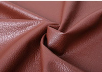 Wholesale Leather Sofa Fabrics - 138cm 0.8mm Soft bag leather fabric sofa fabric big lychee pu leather handmade diy imitation bed hard packages