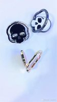 Wholesale Skull Rings Box - 50pcs lot Unique Tai Chi Skull Design Metal Grip Buckle Phone Holder Finger Ring Stand Mount 360 Degree Rotation With Retail Box