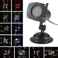 Wholesale Christmas Projection Lamp - TOMSHINE Halloween Christmas Projector Lamp Rotating LED Projection Light 12 Patterns Pumpkin Ghost Heart 12 Replaceable Lens L1438