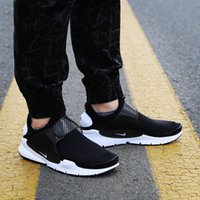 Wholesale Shoes Tick - New Top Quality Wholesale black Top Quality belt Small white tick the Sock Casual Walking Shoes sneakers men shoes Size EUR 40-44