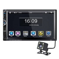 Wholesale Double Din Camera - 7'' Double Two Din Car DVD GPS Navigation Radio Stereo Audio Rearview Camera Bluetooth MP5 Player For Universal