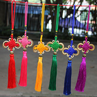 Wholesale Tang China Wholesale - Multi-Color Auspicious Chinese Knot Tassel High-Grade Keychain Cellphone Straps Car handbag Pendant Jewelry Decoration 26CM DIY Accessory