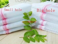 Wholesale Laundry Net Fabric - Free Shipping New 60cm*60cm Clothes Washing Machine Laundry Bra Sheet Down Jackets Aid Lingerie Mesh Net Wash Bag Pouch Basket