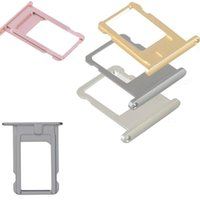 Wholesale Cell Phone Parts New - Cell Phone Accessories SIM Card Tray Holder Slot New Disign Fit For Iphone5 6 7 Plus Nano High Quality Colorful Replacement Repair Parts