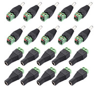 Wholesale cctv jack - Promotion! 10 Pairs Male and Female 2.1x5.5mm DC Power Plug Adapter Connector Jack For CCTV
