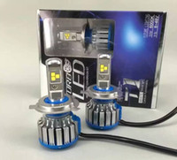 led-scheinwerfer umbausatz h4 großhandel-1set 80W 7000LM CREE Chip TURBO T1 H4 LED SCHEINWERFER Niedrig / Hi 6000K Umwandlung Auto LED Kit Scheinwerfer