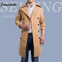 Wholesale Nice Jackets - Fashion- Nice Vogue Jamickiki Brand Men€s Jacket Full Sleeves Double-Breasted Men€s Casual Autumn  Winter Coats Asian Size