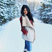 Wholesale Wool Vest Fur Collar - women's fashion vest large plush fur collar vest embroidery vest spring and autumn
