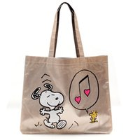 Atacado Classic Snoopy Cartoon Dogs Canvas Shopping Bag 36 * 30CM Kawaii Lunch Bag Bolsas de mão femininas Kids Christmas Gifts