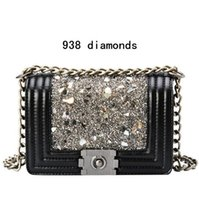 Wholesale Trend Shell Bag - factory brand handbag classic small fragrant and shining shell fragments decorative woman single shoulder bag trend diamond freaky chain bag