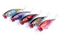 Wholesale Catfish Lures - Pesca Pike Fishing Lure Popper Artificial Swimbait Wobbler Tackle Hooks 8g 75mm Attract Catfish Carp Big Game Fake Baits