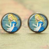 Wholesale American Alice - 10pairs lot Alice earring, Alice in Wonderland earring print photo Literary earring