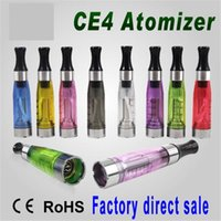 Wholesale Ego Atomiser Clearomizer - Vape Cartridges ATOMISER Clearomizer Tank Ce4 Atomizer Eectronic Cigarettes 1.6ml Vape Pen e Cigs 510 Thread For eGo t Battery Evod Battery