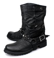 Wholesale Vintage Snow Boots - 2016 New Vintage Fashion Business Men Boots Genuine Leather Military Boots Retro Rome Style Tooling Boots Motorcycle Men Shoes Big Size