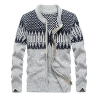 Wholesale Big Size Long Cardigan - Cotton Sweaters Mens Knitted Cardigan Zipper Men Wool Sweaters Autumn Spring Coats Thick Warm Overcoat Casual Big Size M-XXXXL
