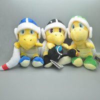 "Wholesale Super Mario Koopa Troopa Toys - Hot New 3 Styles 8"" 20CM Koopa Troopa Plush Stuffed Doll Super Mario Bomb Boomerang Hammer Toy Anime Collectible Dolls Party Gifts Soft Toys"