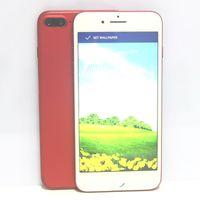 Wholesale Mp3 Player Real 8gb - Red Goophone i7 Plus Real Fingerprint Quad Core MTK6580 1GB RAM 8GB ROM 1280*720 HD 8MP 3G WCDMA Metal Unlocked Cell Phones