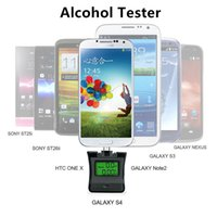 Wholesale Iphone Breath - NEW Protable LCD Breath Alcohol Detector Tester Breathalyzer Analyzer Backlight Display Alchotester For Android & iPhone Samsung