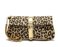 Wholesale modern cell - AC780 modern fashion sexy leopard prints foldable canvas multifunctional day clutch dress evening bag wristlet strap 0.4