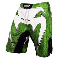 Wholesale Hot Mma Fights - new Fine Mens HOT--MMA Green RED Fight shorts-Muay Thai boxing