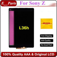 Wholesale Xperia Z Lcd - Orignal For Sony Xperia Z L36h Lcd Display Touch Screen Digitizer Assembly Without Frame By DHL