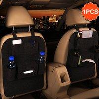 ingrosso tasca accessori auto-2017 Nuovo Auto Car Seat Back Multi-Pocket Storage Bag Organizer Holder Accessorio Nero Organizing Box Spedizione gratuita