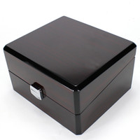 Wholesale Black Jewelry Pillows - Luxury Brand Wood Box for Watch certificate Top Gift Jewelry Bracelet Bangle Boxes Display Black Spray paint Storage Case Pillow
