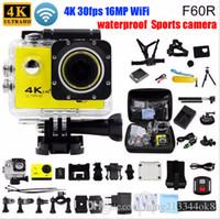 vidéos hd caméra india achat en gros de-F60 / F60R Caméra d'action originale 4K 30fps 16MP WiFi 170D Casque Cam sous l'eau aller étanche caméra sport Pro